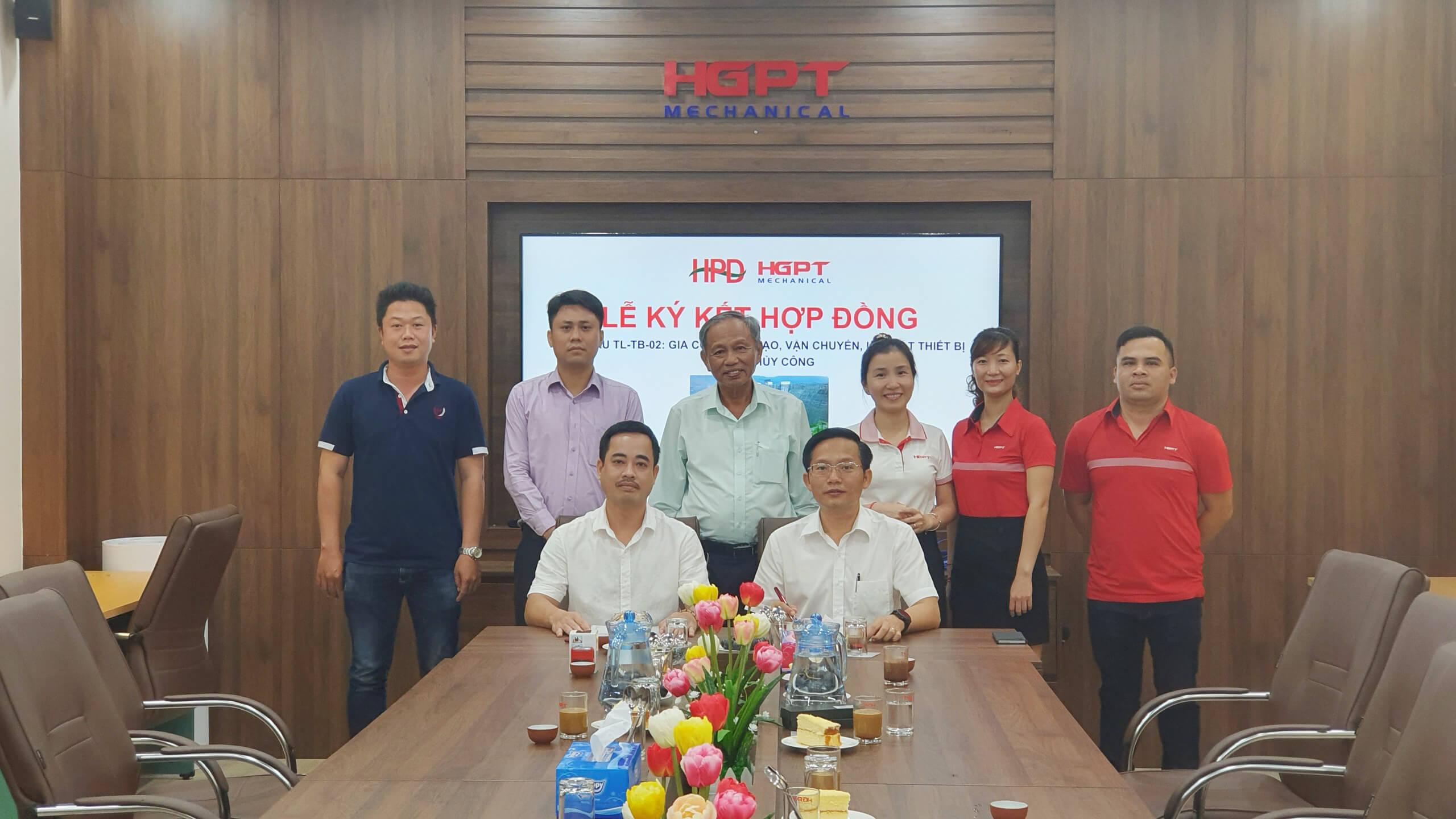 Lễ ký kết hợp đồng gói thầu TL-TB-02 thuộc dự án Thủy điện Tân Lộc (Lâm Đồng)