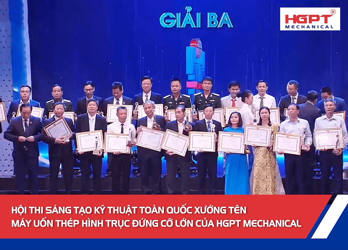 Hội thi sáng tạo kỹ thuật toàn quốc xướng tên máy uốn thép hình trục đứng cỡ lớn của HGPT Mechanical