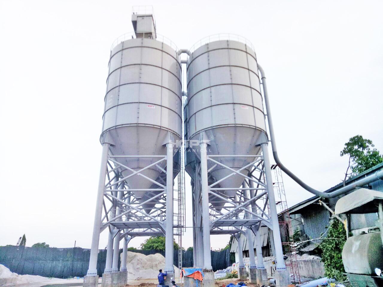 Chế tạo & lắp đặt Silô chứa xi măng 500 tấn
