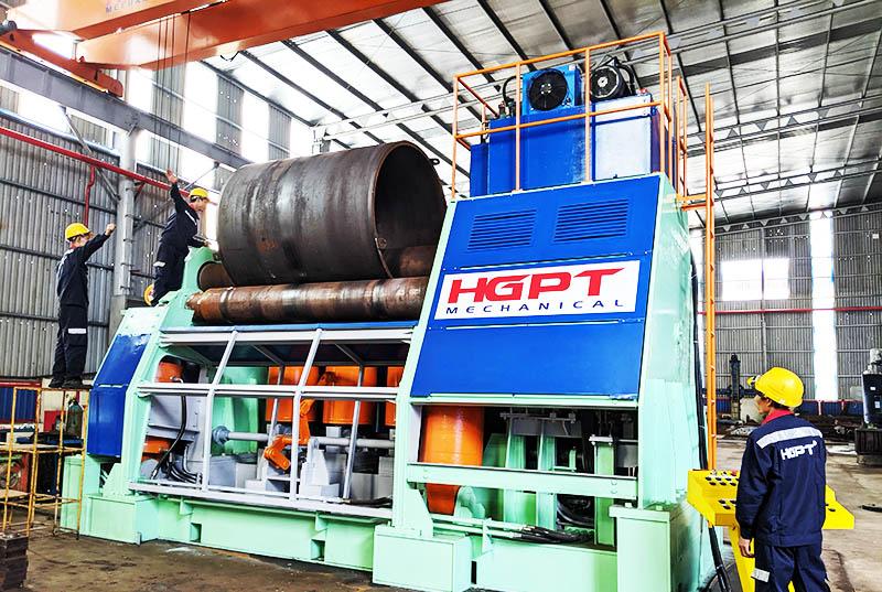 HGPT Mechanical chế tạo thành công máy lốc thép tấm 4 trục dày đến 80mm