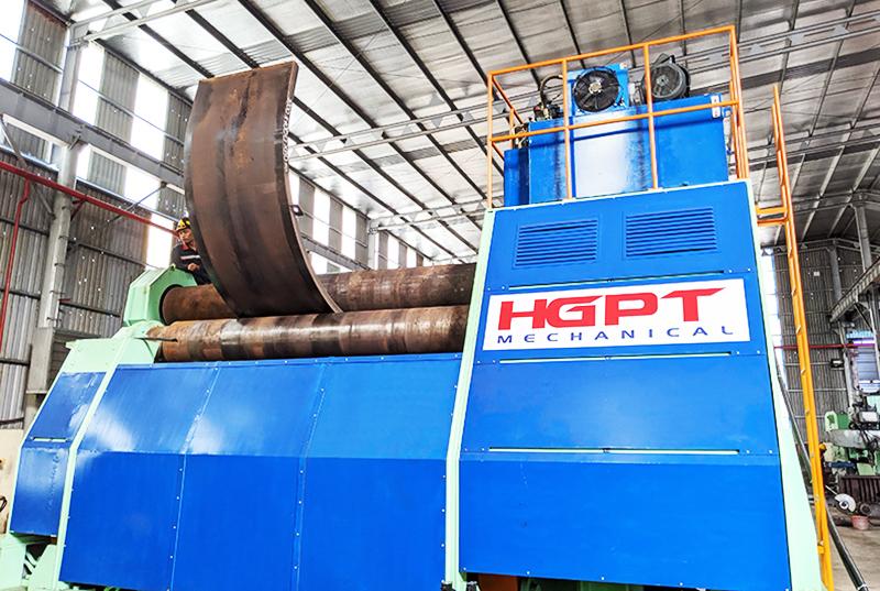 HGPT Mechanical chế tạo thành công máy lốc thép tấm dày 80mm