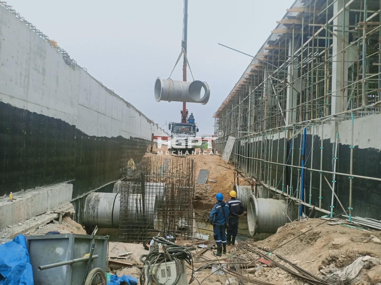Chế tạo và lắp đặt hạng mục đường ống và phụ kiện – Nhà máy nước Hòa Liên