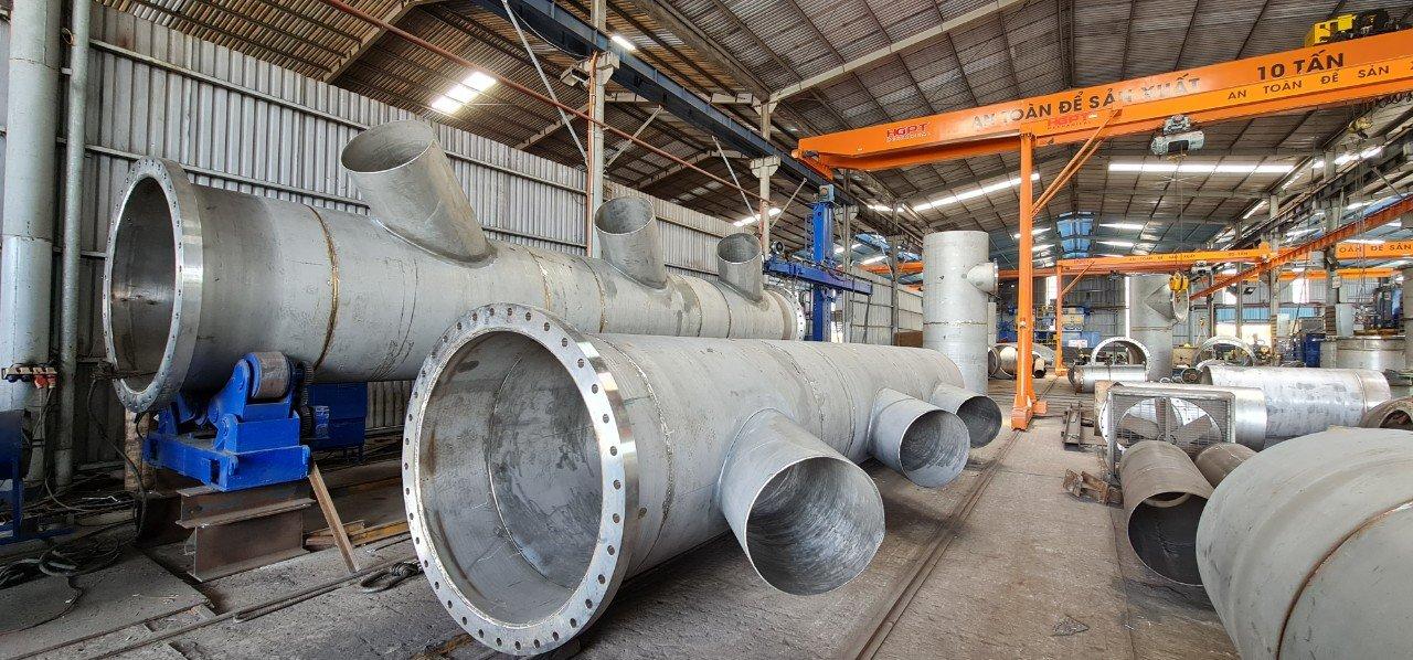 Hoàn thiện hạng mục lắp đặt đường ống công nghệ Nhà máy nước Hòa Liên