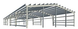 Mô hình Nhà thép công nghiệp
