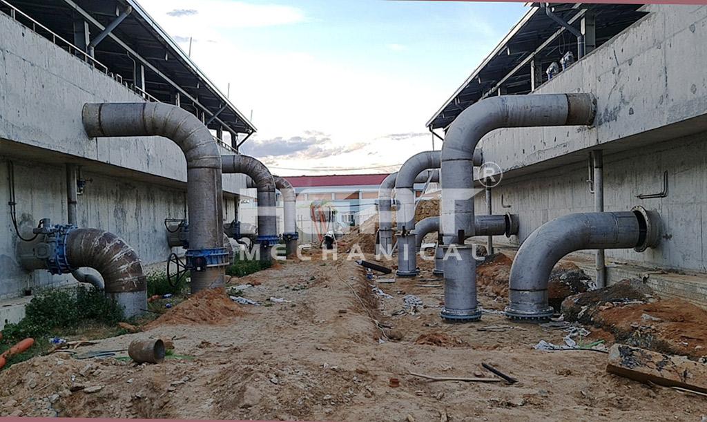 nhà máy nước cầu đỏ - đường ống